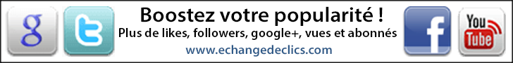 Plus de like sur Facebook, youtube ou twitter avec Echangedeclics.com